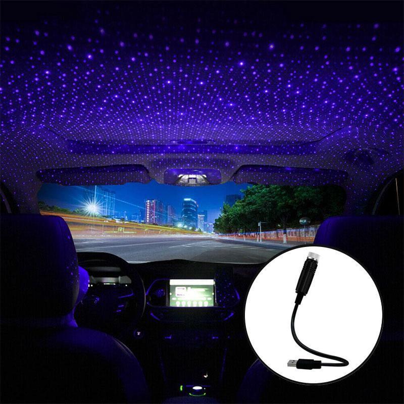 Intérieur lumineux étoile de toit de voiture LED STRYRY USB Auto Decoration Night Atmosphère Ambiance ambiante Ambiance Decor Décor Galaxy Lights