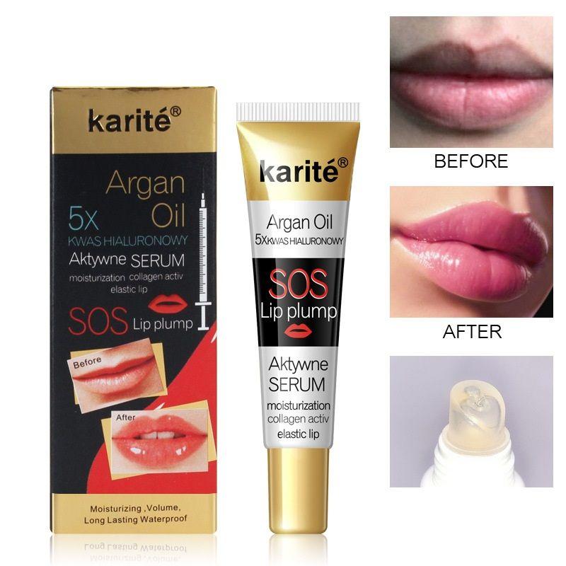 قبلة الجمال الشفاه تعزيز فم كبير مرونة جيلي شفافة ترطيب الشفاه لمعان الأرجون النفط SOS شفاه ممتلئ الجسم
