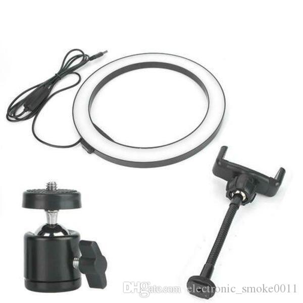 dhl free 10inch 26cm Dimmable LED Studio Camera selfie Ring Light Phone Video Light Lamp With Tripod for tiktok ringlight aro de luz