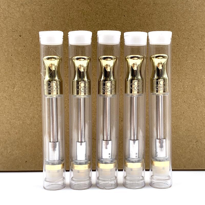Bundos de latão 510 cartuchos Pyrex Vidro 1.0ml de ouro touch touch atomizador de Óleo de Óleo Vape Caneta Tanque Dip Dica com pavio Bobinas