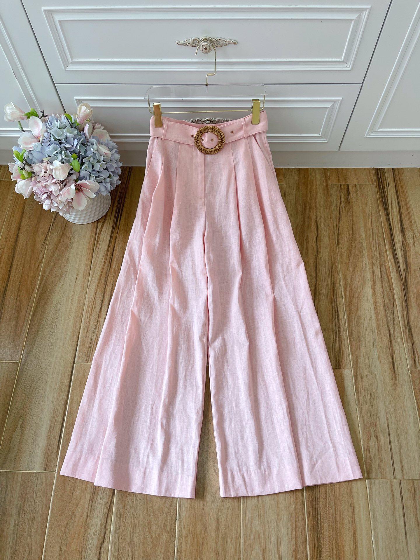 2021 Marca de moda australiana Simple y de moda alta cintura y pantalones de pierna ancha