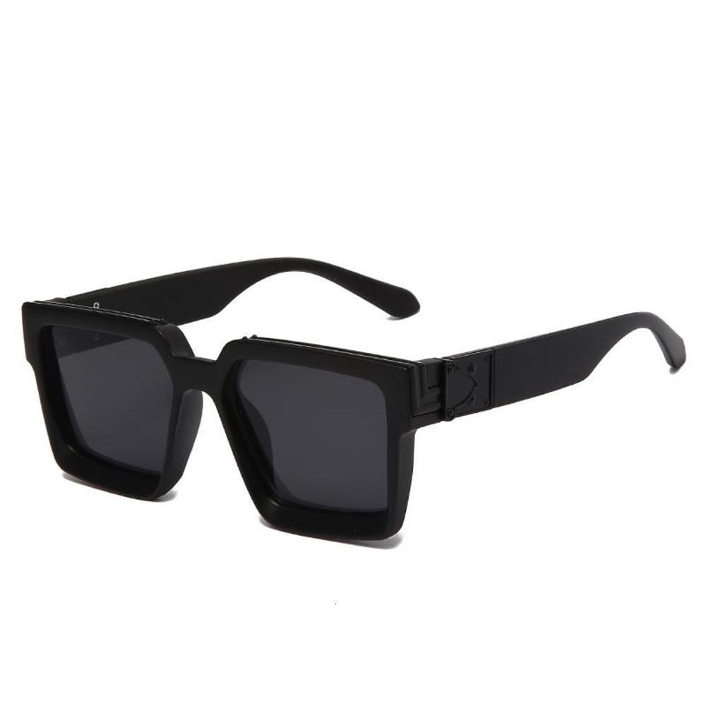 Óculos de sol na moda marca digner sol vidro para homens e mulheres 2021 milionário estilo