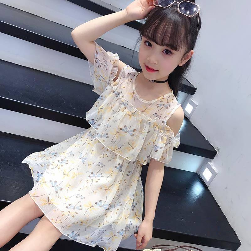 Vestidos de niña Vestido de verano para niños 12 Ropa para niños Sweet 8 niños 9 Estudiante Moda 7 Flor niña 6 5 4 años