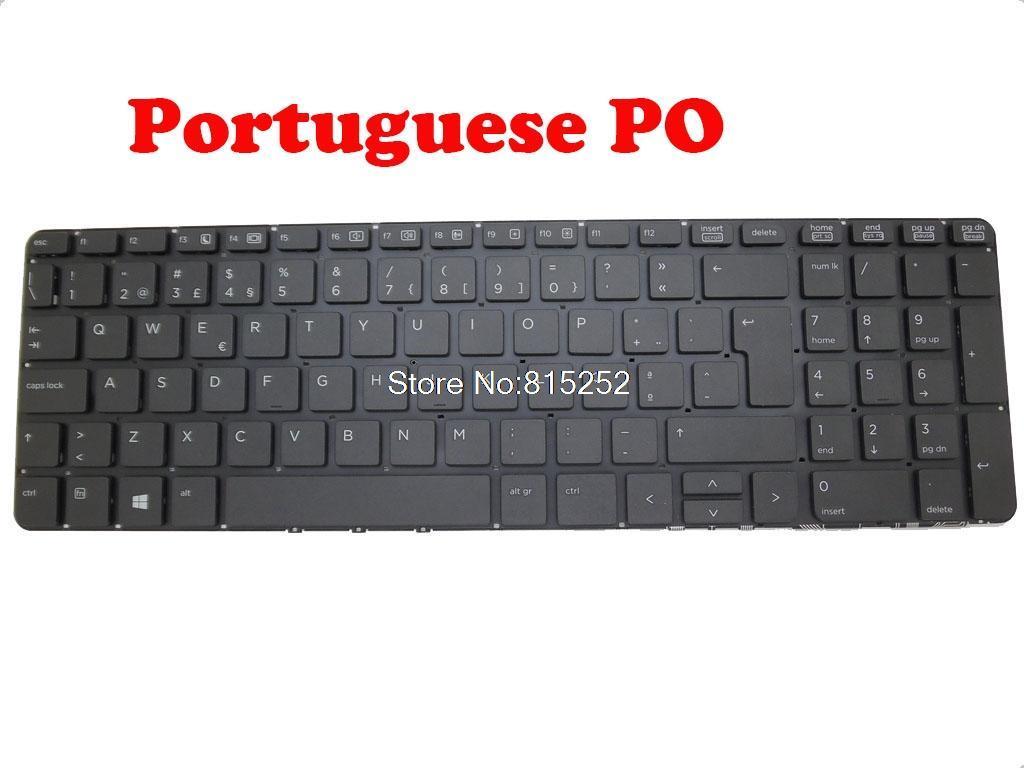 Teclado para portátil para Probook 450 G0 450 G1 455 G1 470 G0 721953-001 721953-131 721953-271 English US / Portugués PO / RUMANIA RO