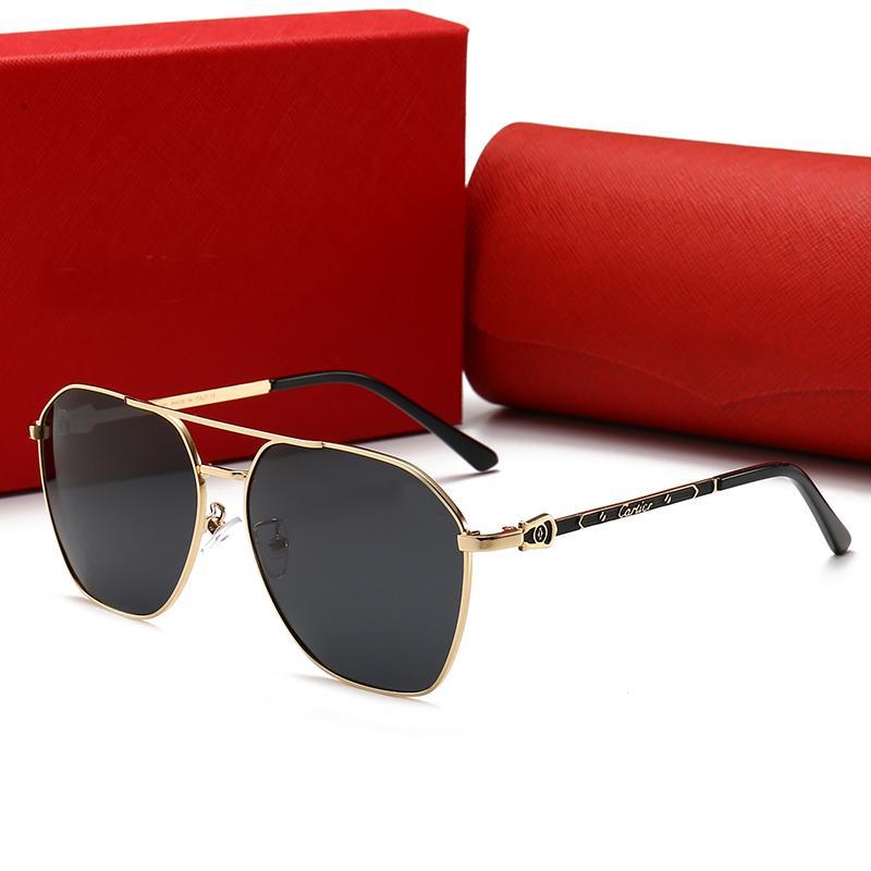 C luxe marque polarisé hommes femmes pilote lunettes de soleil UV400 lunettes lunettes métallique cadre polaroid lentille