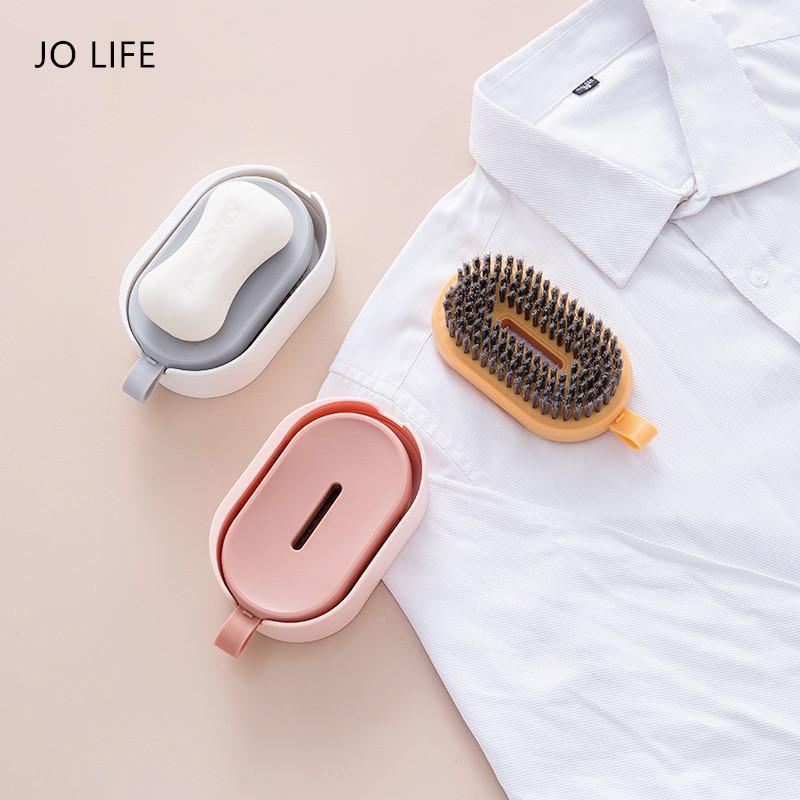 Джо Жизнь настенные монтируемые многофункциональные чистящие кисть Nordic стиль висит пластиковые мыло ящик для очистки инструменты одежды обуви щетка