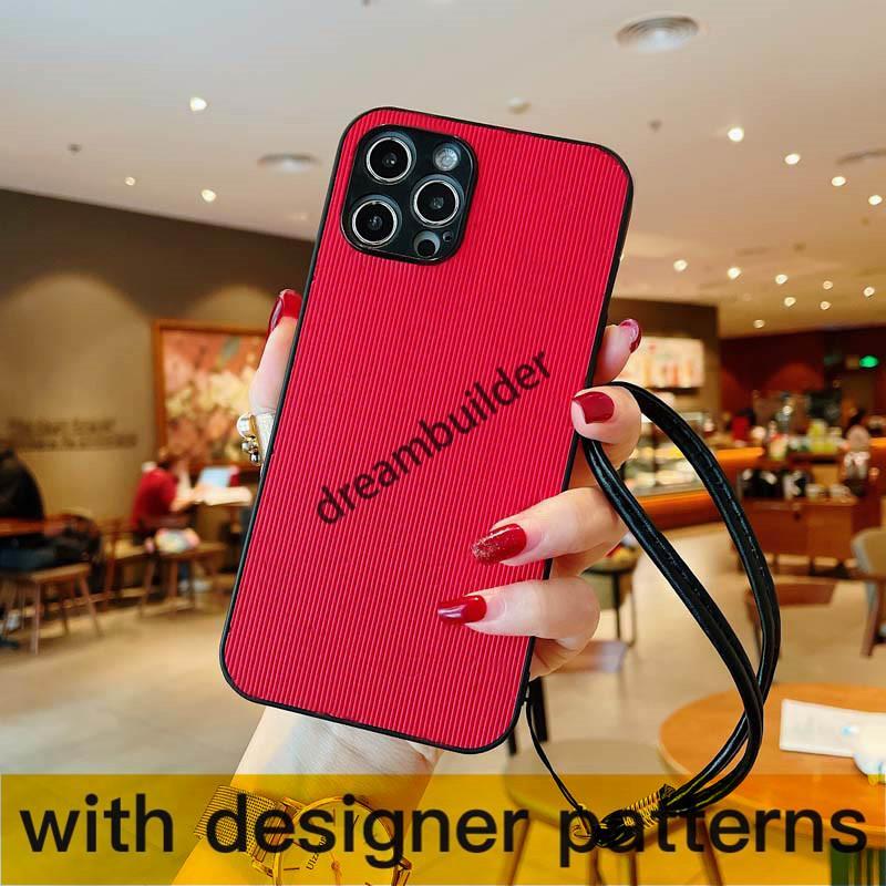 Casi del telefono della moda per iPhone 12 Pro Max Mini 11 11Pro X XS XR XSMax Shell PU Designer 11Promax Cover