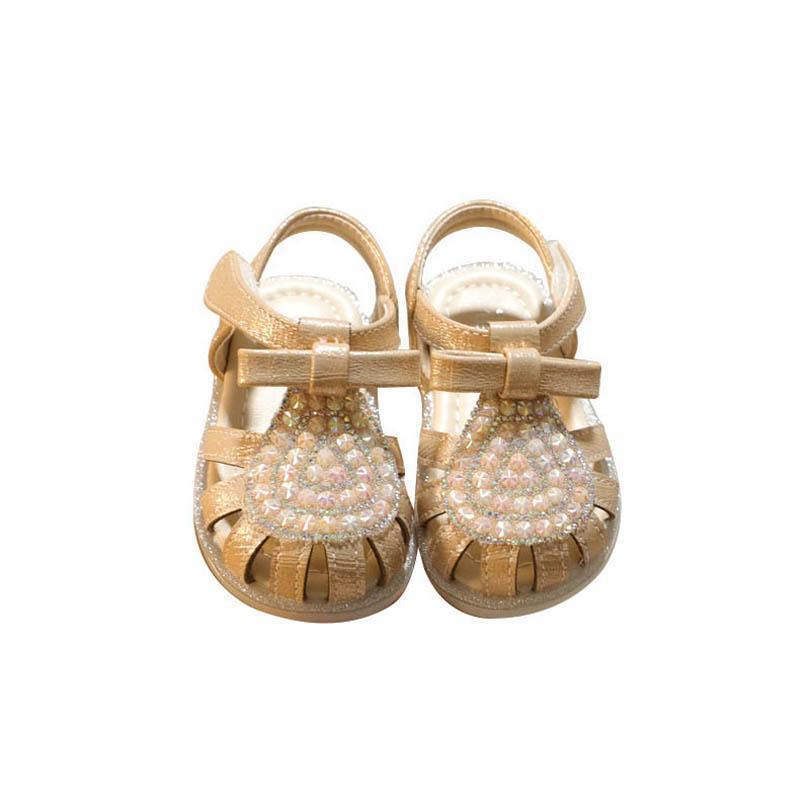 بنات الصنادل أطفال أحذية الأطفال أحذية طفل ارتداء الصيف طفل الأميرة اللؤلؤ حجر الراين الأزياء شاطئ B7005