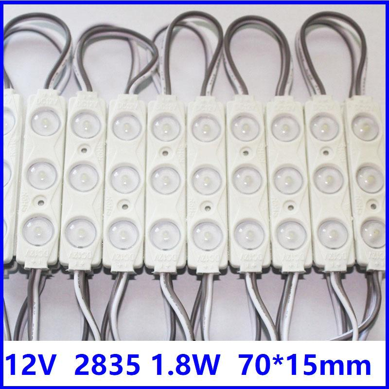2835 Lens Ile LED Modülü DC12V 1.5W Açı 175 IP65 70mm * 15mm Alüminyum PCB Yüksek Parlak