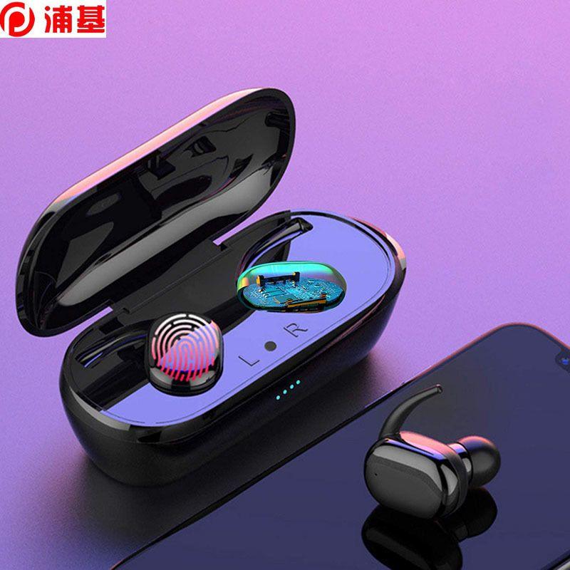 Fones de ouvido sem fio TWS Sport Headsets Touch Touch Bluetooth 5.0 Fones de ouvido à prova d'água com microfone para iPhone Samsung Huawei
