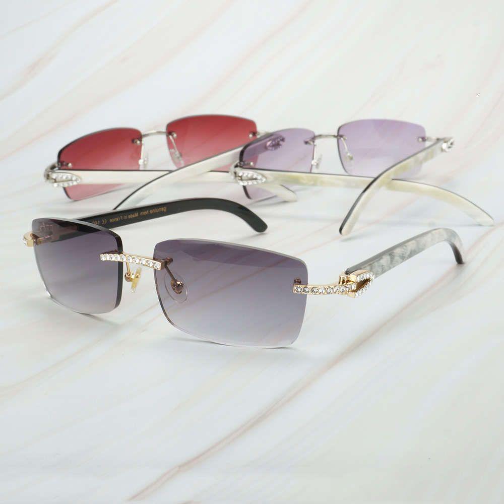 Uomini Bianco Mix Black Buffalo Horn Ienbel Womens Luxury Sunglasses Brand Designer Carter Eyewear per la pesca Festival Rave