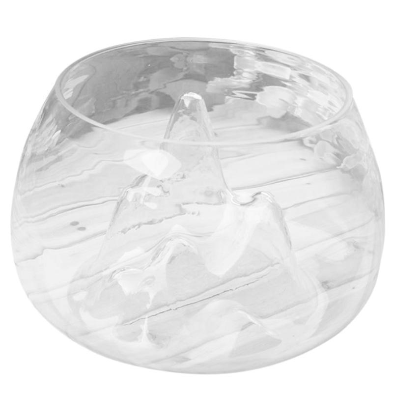 Прозрачный стеклянный ваза рыбный танк Золотая рыбка Аквариумная чаша Главная Террариум Декор, 15см