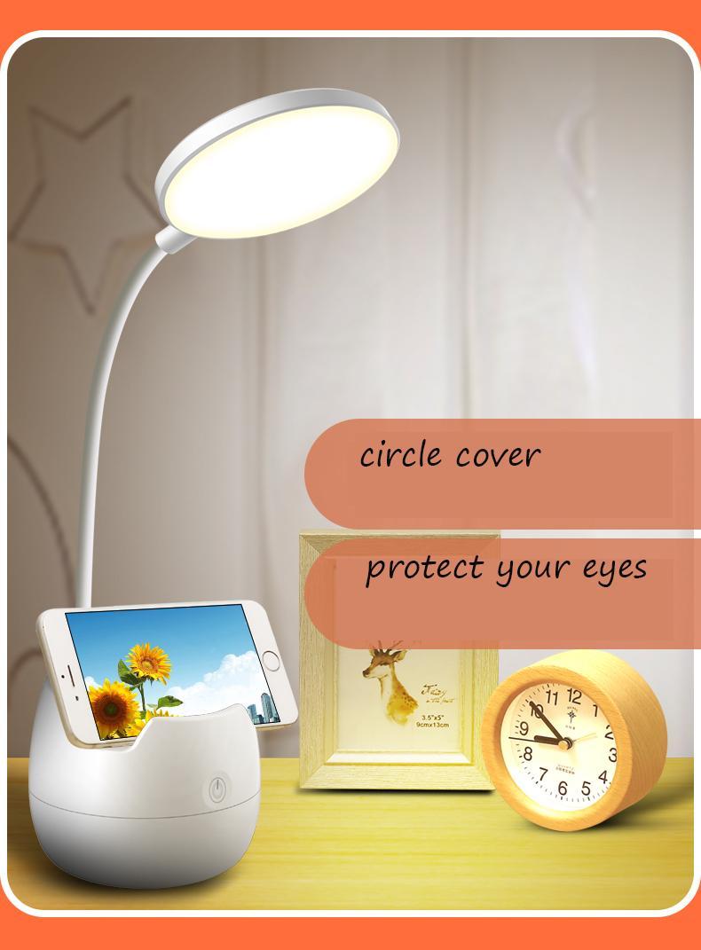 Dimmable LED Libro Light Bright Chips 360 gradi Egli occhi regolabili Prenditore Multi Funzione Lampada da tavolo base
