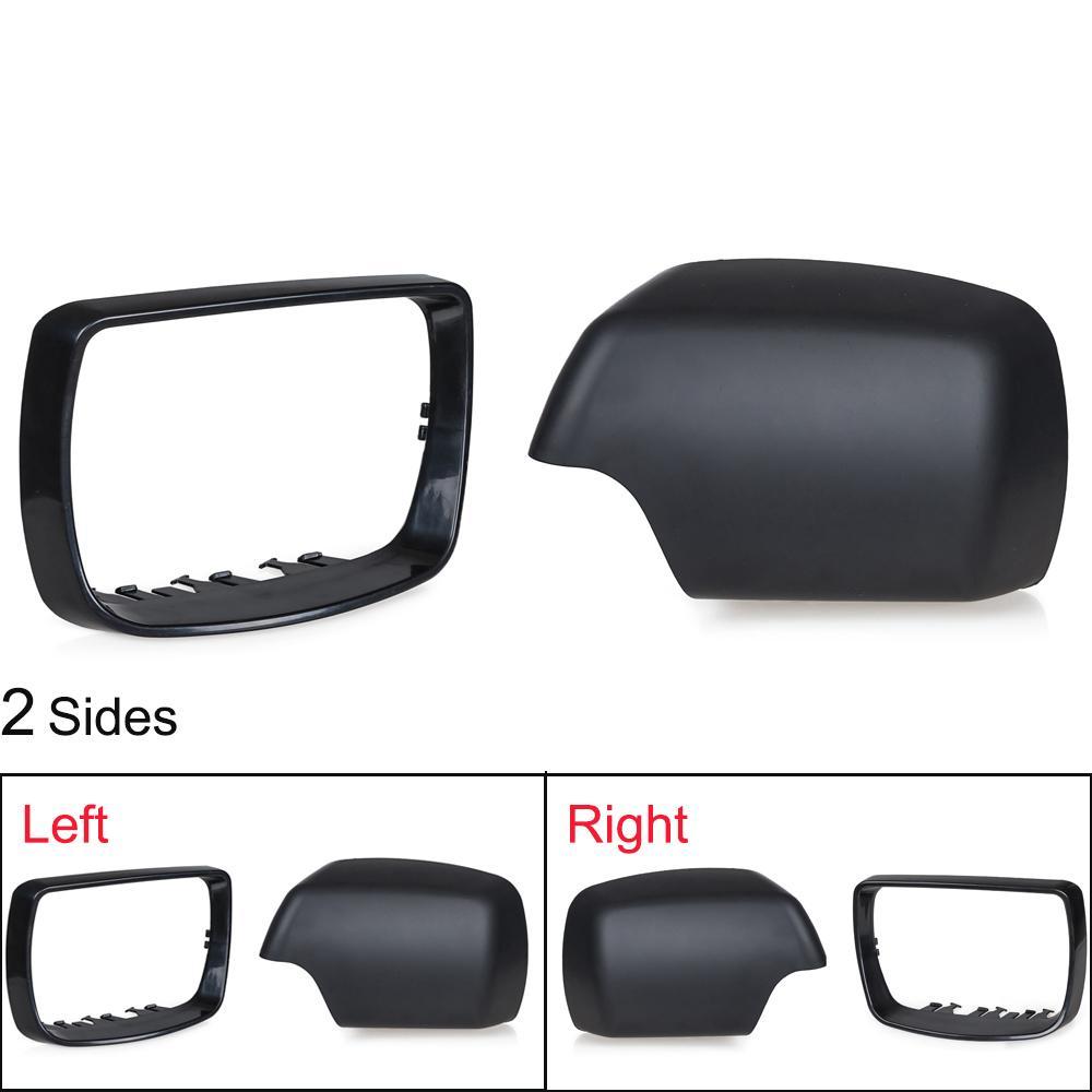 ل BMW E53 X5 الجانب الأيمن الجانب الأيمن غطاء مرآة كاب 2000 2001 2002 2003 2004 2005 2006 مرآة الرؤية الخلفية تريم الدائري 51168256321