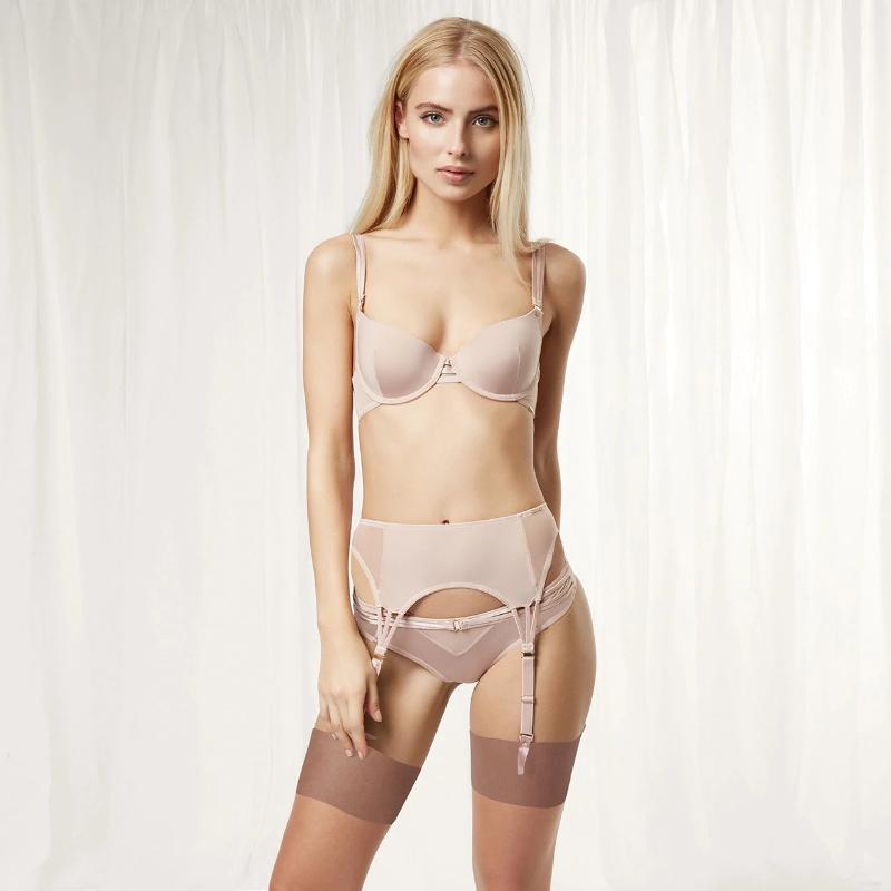 BHs Sets EFIOLY NT19A0253 2021 Sexy Spitze BH Push-Brustunterwäsche Set Frauen Schöne Hinterband 3 Stück