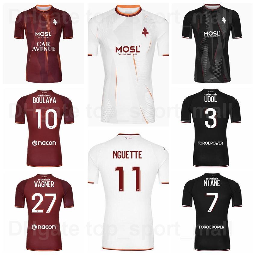 2021 2022 Metz Soccer Jersey 10 Boulaya 7 Niane 26 Yade 20 Gueye 18 Centonze 19 Maiga 3 Udol 15 Sarr 17 Delaine 27 Vagner 11 Nguette Football Camiseta Kits Número de nombre personalizado