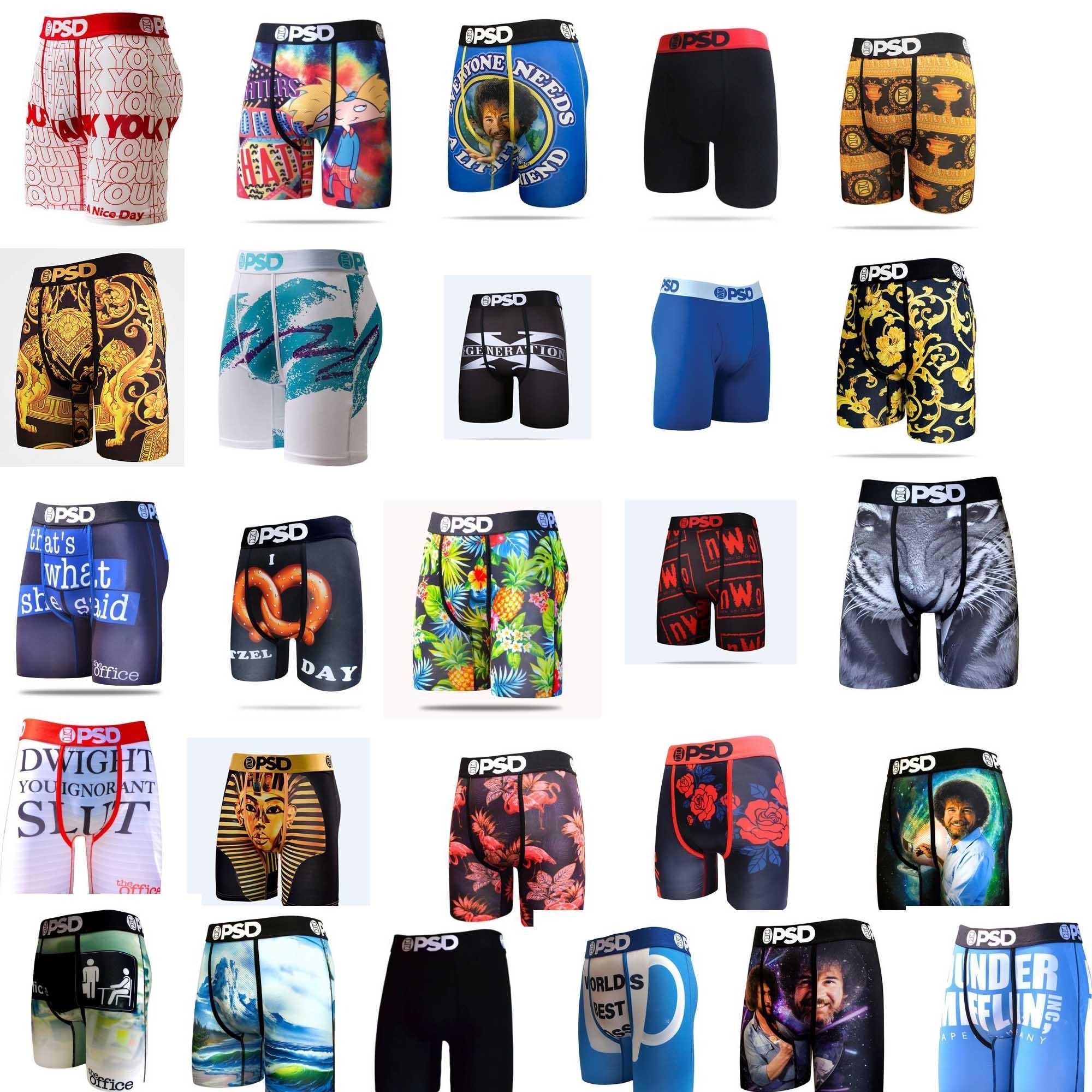 6pcs lot de haute qualité 20 couleurs sexy coton hommes boxeurs respirantes hommes sous-vêtements de marque boxeurs logo sous-vêtements mâle psd boxeur