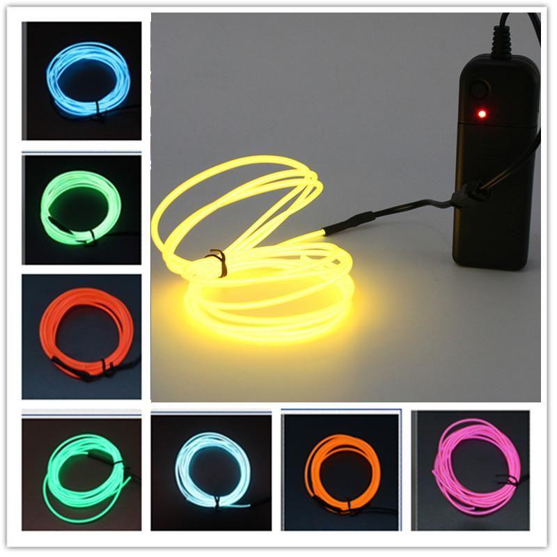 Neon Işık El LED Neon Tel Arabanın altında Esnek Yumuşak Tüp Işıkları LED Şerit Işareti Anime / Vücut Kadın / Odalar Halat Işık RGB Luces