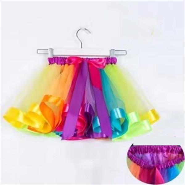 حر dhl ins 12 ألوان الفتيات rainbow توتو فساتين تنورة اصطف الدانتيل الأميرة pettiskirt كشكش الباليه dancewear