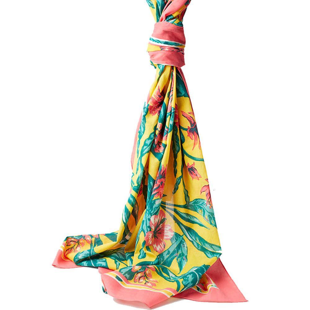 Sunscreen Shawle Женские летние путешествия Silk универсальный праздник пляжное полотенце супер большая тюль двойной цель шарф