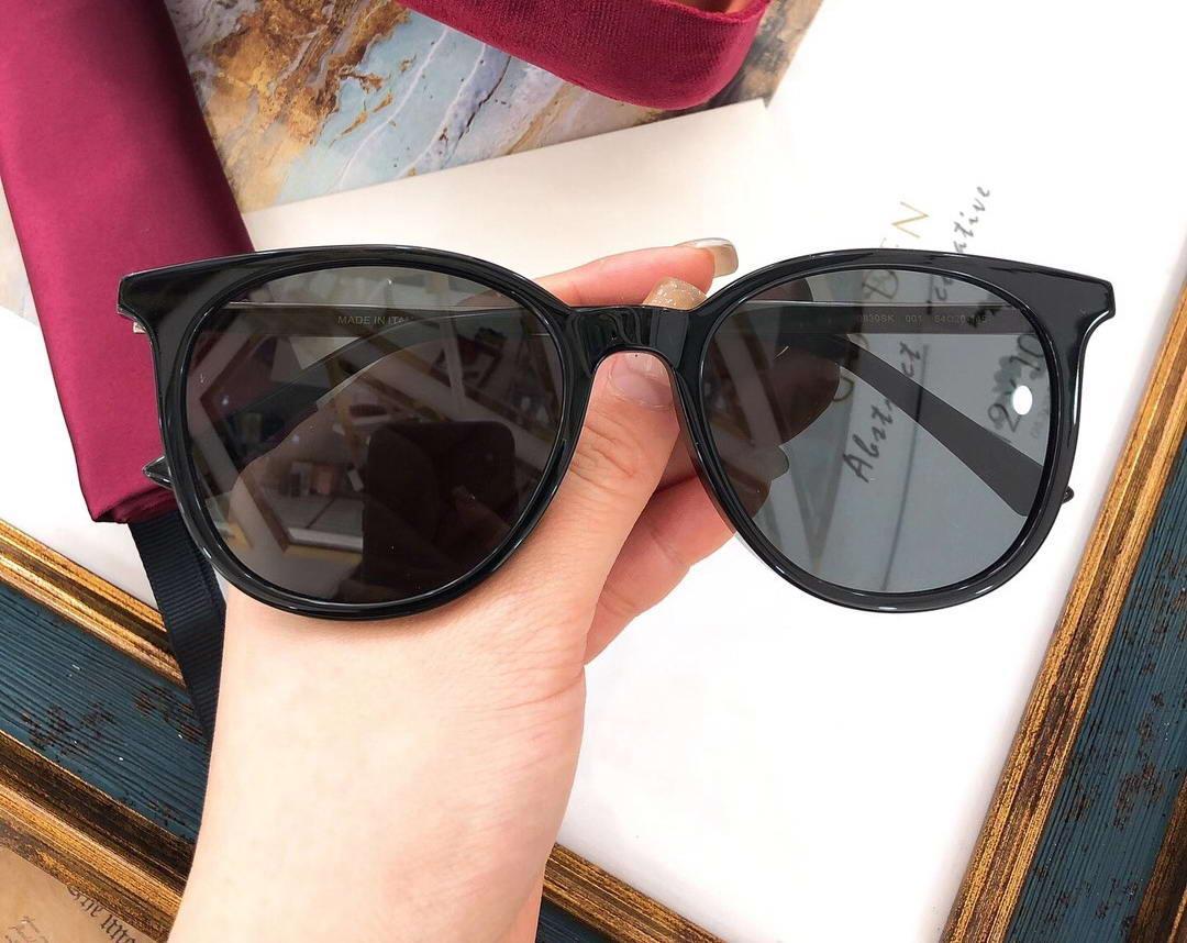 Schwarz Ruthenium / Graue Katze Eye Sonnenbrille 0830 Sonnenbrille Mode Sonnenbrille Top Qualität mit Box