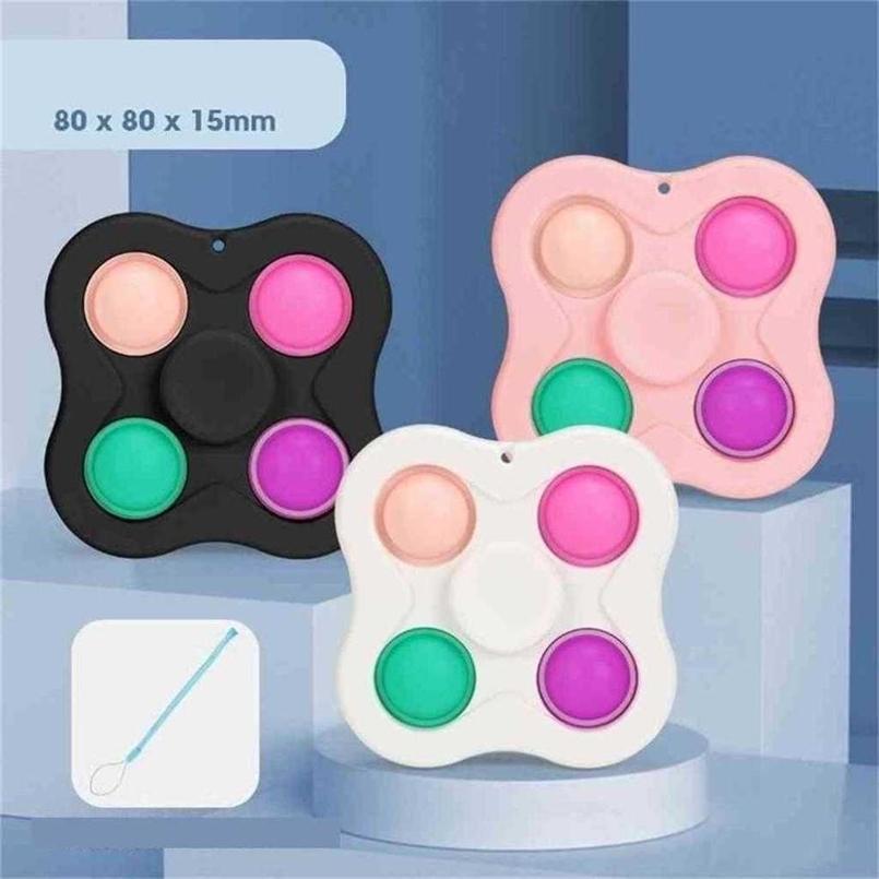8/10/12 Dica de dedo Push Bubble Fidget Pop Top Top Toys Comunicado de Imprensa Chaveiro Brinquedo Funny Game Keyring Sensory Puzzle Placa Jogo G55njqu