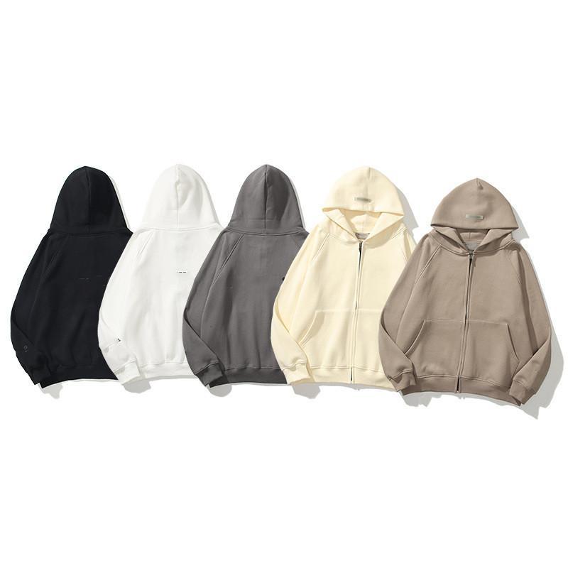 Código Europeu Solto Hoodies Versão Verdadeira Reflexão Multilina Reflexão Multilina Alta Qualidade Mens e Womens Zipper Cardigan Cuff Cartas Reflexivas