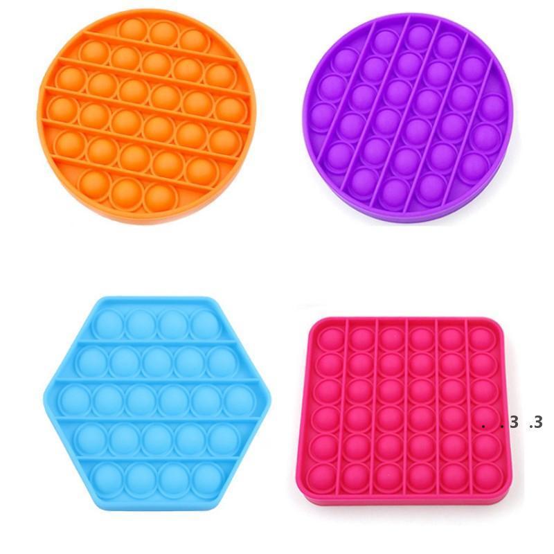 Push Bubble Sensory Spielzeug Für Autismus Squishy Stress Reliever Spielzeug Erwachsene Kind Lustige Anti-Stress Es Zappeln Absturz Stress FWF4949