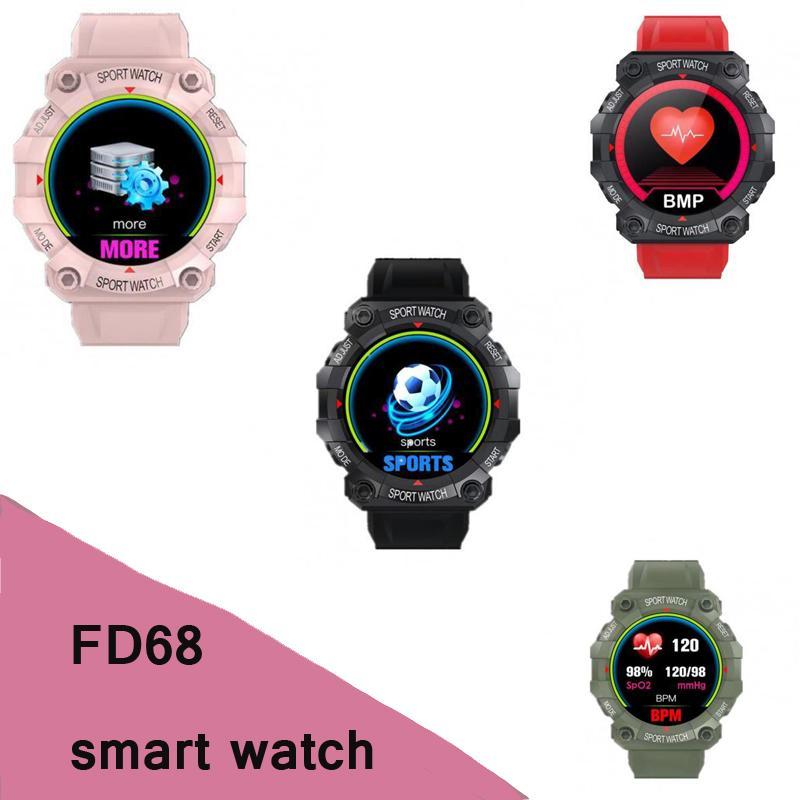 FD68 الذكية ساعة معصمه بلوتوث القلب معدل ضغط الدم مراقب الأزياء الصحية يذكر الساعات الطويلة الانتظار الساعات