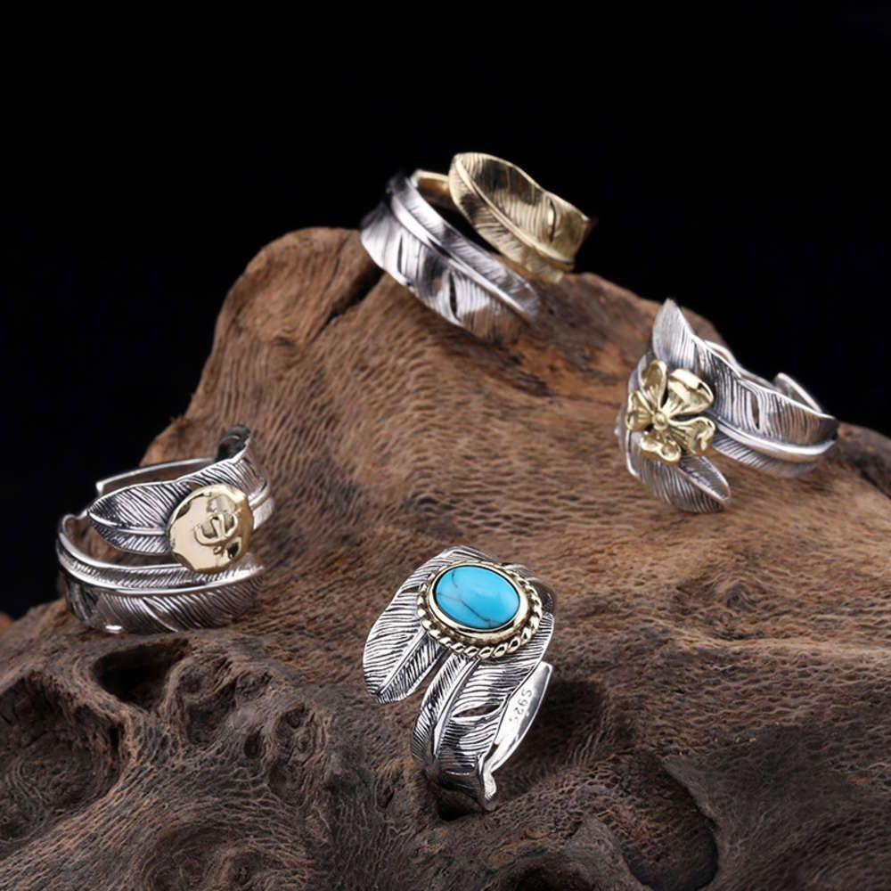 Перо кольцо для мужчин и женщин