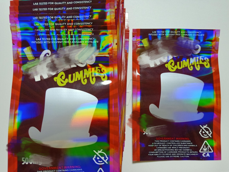 Hot Wonka Gummies Infundió Embalaje Mylar Bolsa Paquete Mylar Bolsa Bolso al por menor Olor Packaging Mylar Bolsa Envío gratis