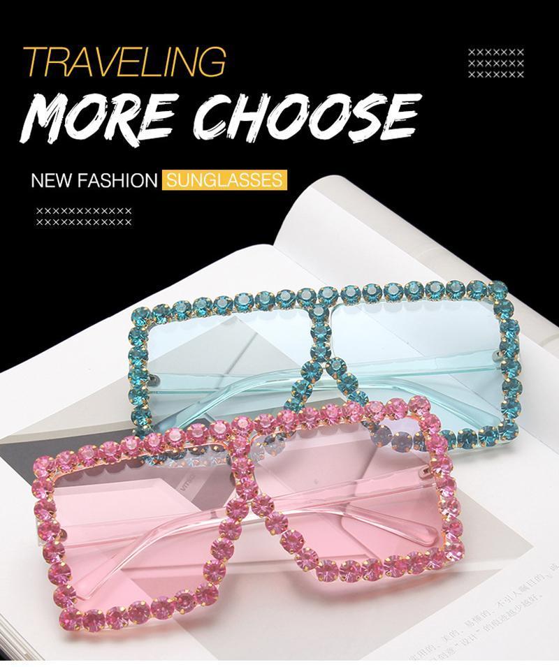Солнцезащитные очки для мужчин Винтаж Негабаритные оттенки Женщина Мода Оптовая Квадратные Очки Унисекс