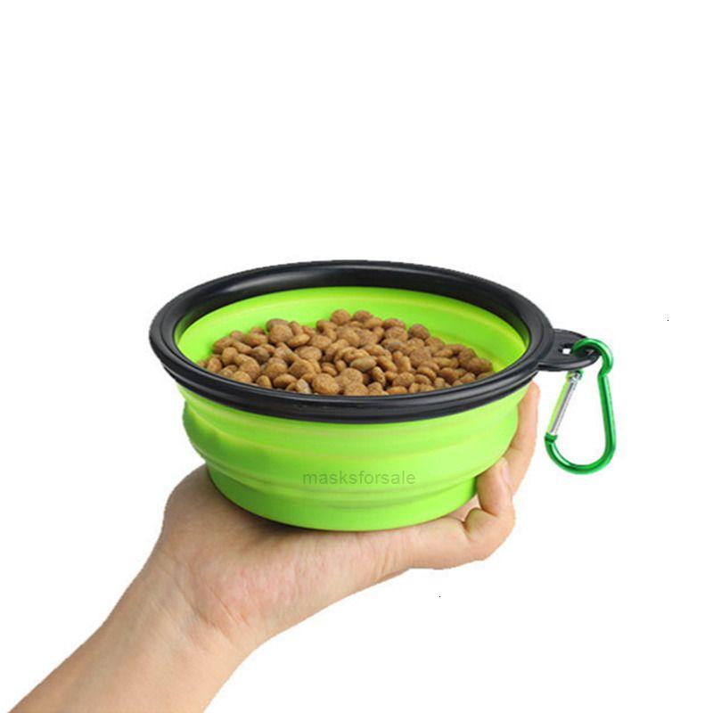 Hund Falten Silikon Pet Food Bowl Tragbare Reiseteller Süßigkeiten Farbe Haustier Lebensmittel Container Katze Fütterungsstapel DHL TransportatIuy00