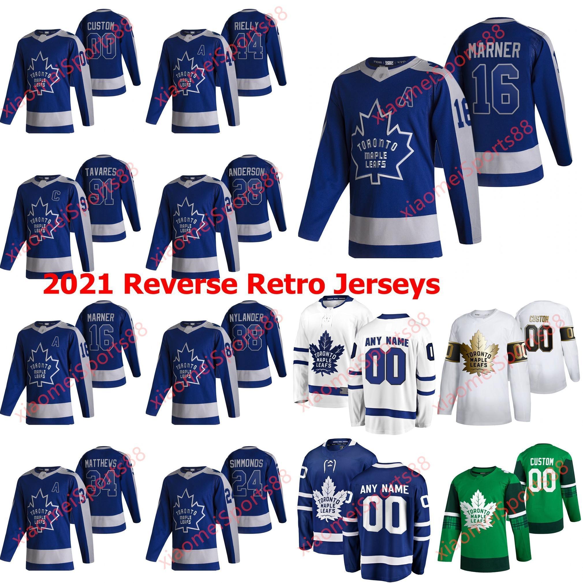 Toronto Maple Leafs 2021 Retro Retro Hockey Jerseys Michael Hutchinson Jersey Max Veronneau Denis Malgin Kyle Clifford Custom Steinsted
