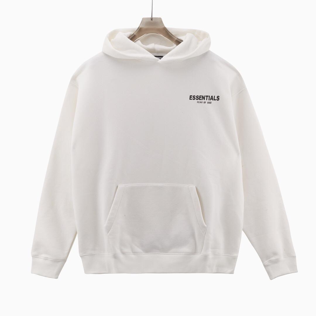 FOD Essentials Sweatshirts 3D Silikon Hoodies Skateboard Straße Mode Männer Frauen Kurzarm Casual T-Shirt Ins Hot 2021 Frühling Sommer