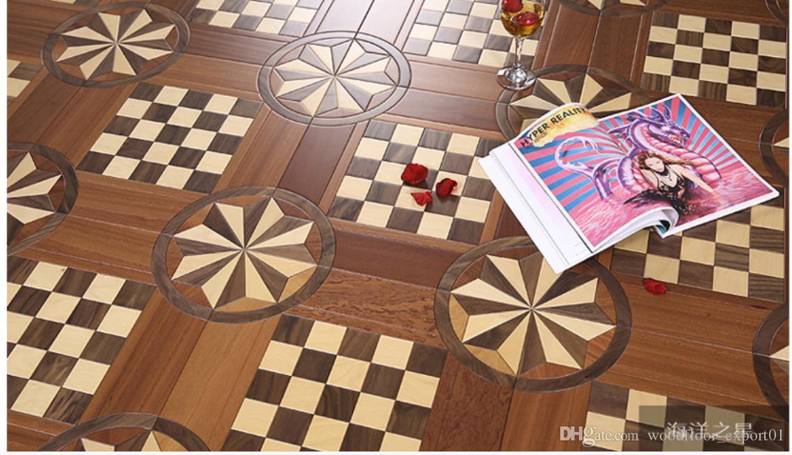 Medallion Inaly wood parquet american walnut hardwood flooring mosaic border backdrops decor wall cladding art panels carpet furniture home interior