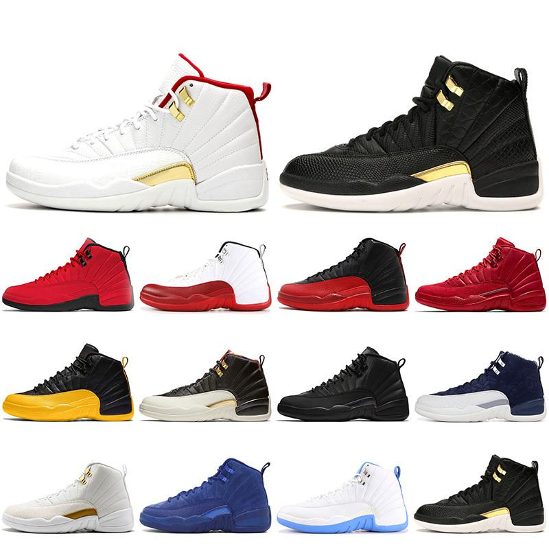 FIBA 12S Jumpman 12 stivali scarpe satinato \ rboots \ rretro wintering international flight gamma blu mens scarpe da ginnastica da scarpe da ginnastica