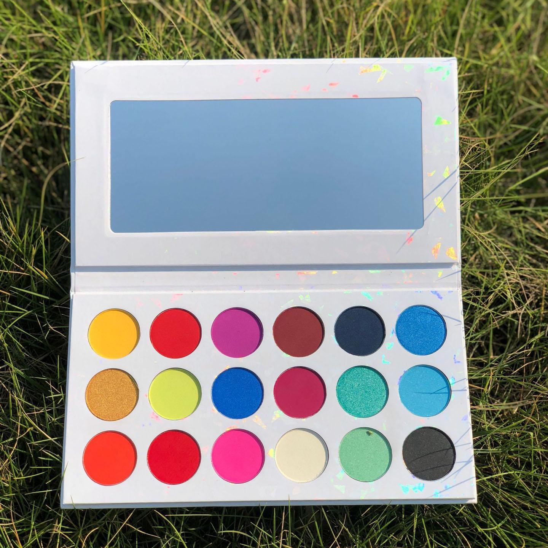 18 color no logo eyeshadow custom logo print Best Pro Eyeshadow Palette Makeup glitter Matte Shimmer Highly Pigmented Professional
