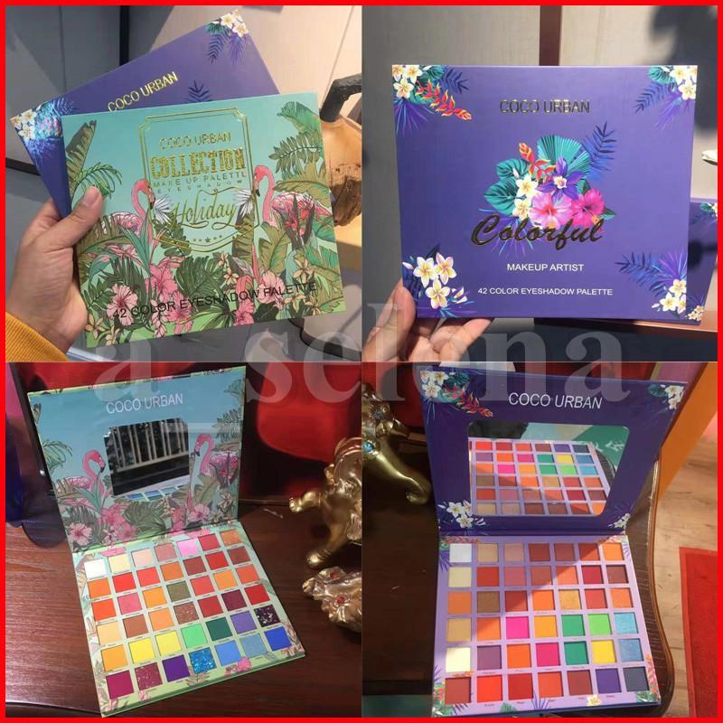 Coleorban coleção olho maquiagem artista sombra paleta 42 cor sombras beleza colorido nude shimmer palettes