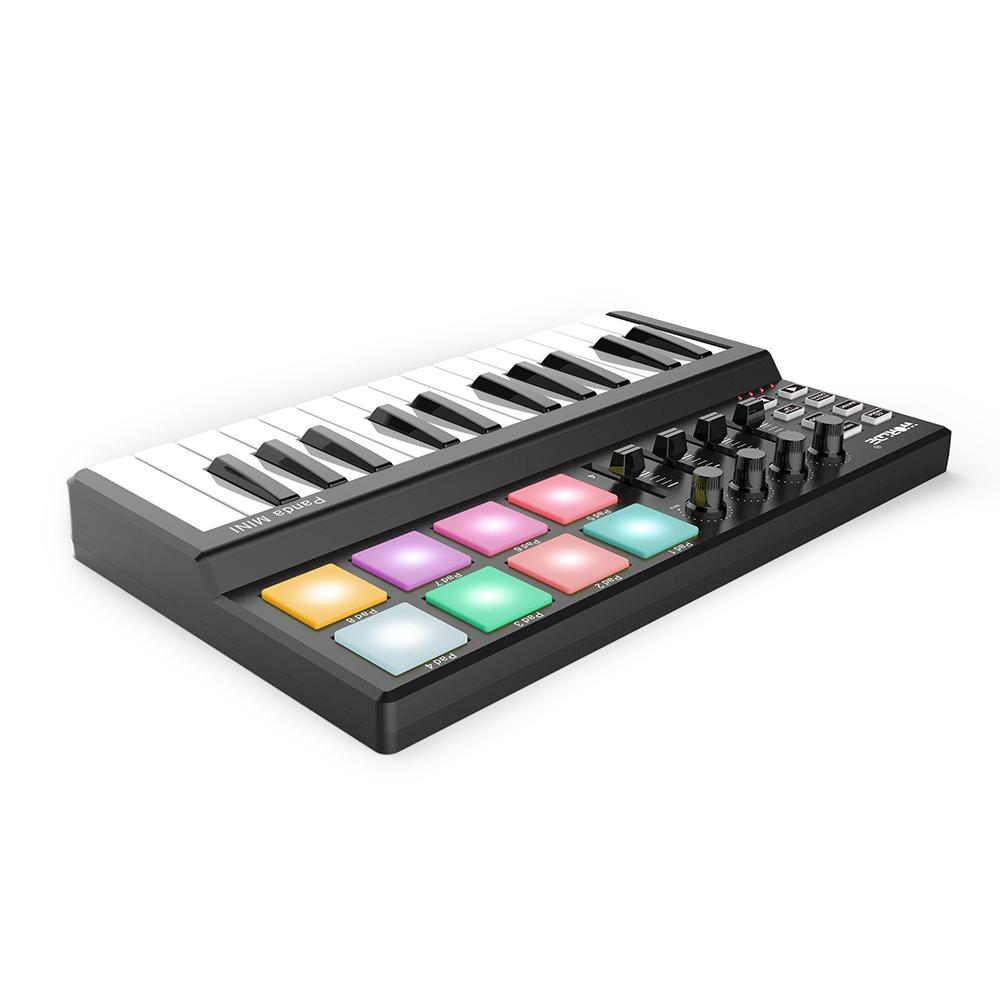 WORLDE 25 Keys MIDI Keyboard Panda MINI USB MIDI Keyboard Controller 8 Colorful Backlit Trigger Pads