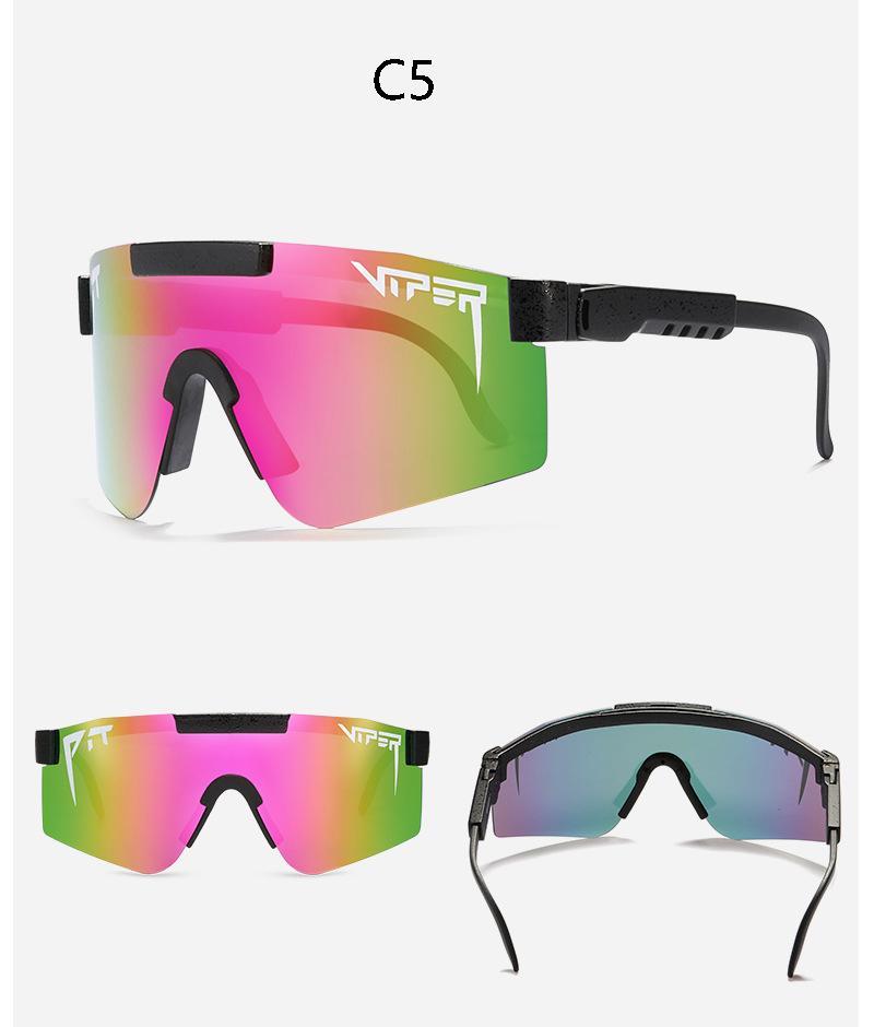 Moda clásica marca espejo azul lente foso y viper gafas de sol polarized men Goggle TR90 Frame UV400 Protección con caso