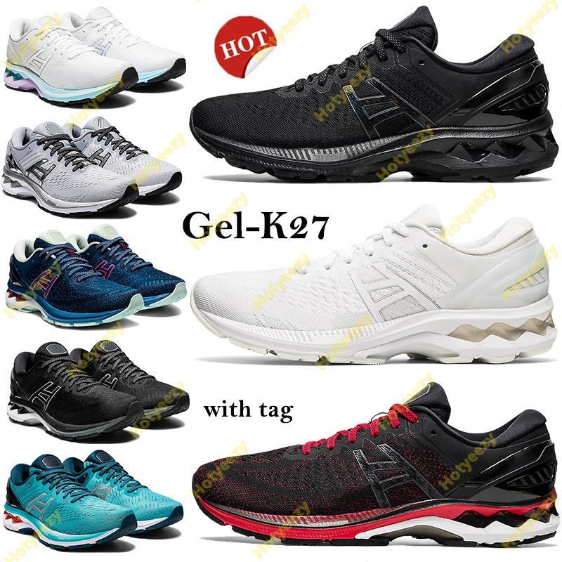 태그 젤 -K27 러닝 신발 트리플 화이트 블랙 순수 실버 남성 여성 운동화 Mako 블루 클래식 레드 플래티넘 GS 스포츠 트레이너 US 4-11