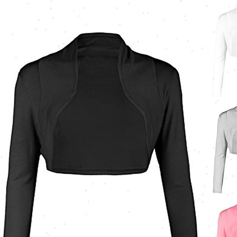 2021 Мода Женщины Ультра короткое пальто Открытый Передний Сплошной Цвет С Длинным Рукавом Болеро Шприц Шордины Кардиган Пальто для Женщин Пальто