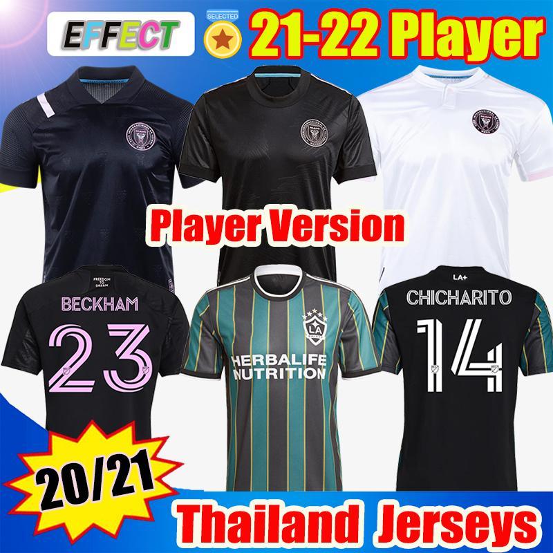 Versione del giocatore MLS 2021 2022 La Galaxy Inter Miami CF Soccer Jerseys 21 22 Vela Chicharito Beckham Higuain Mens Camicie da calcio