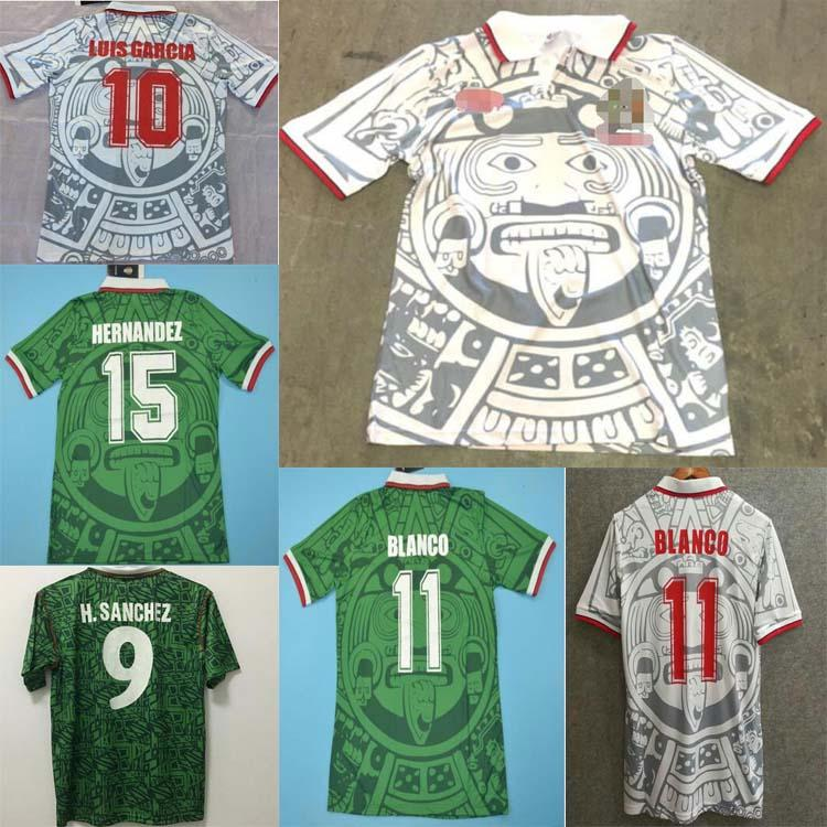 1998 Retro Edition México Jersey Jersey 1998 Camisas de futebol de Copa do México México Casa Azul Homens Futebol Camisa Fora Branco Curto