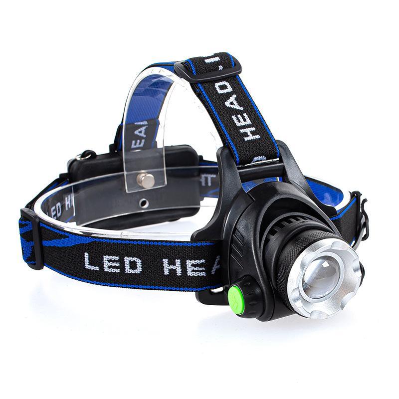 LED كشافات 3Modes T6 Zoomable LED رئيس مصباح مصباح يدوي الشعلة المصباح مع ضوء للماء للخروج الصيد 148 W2