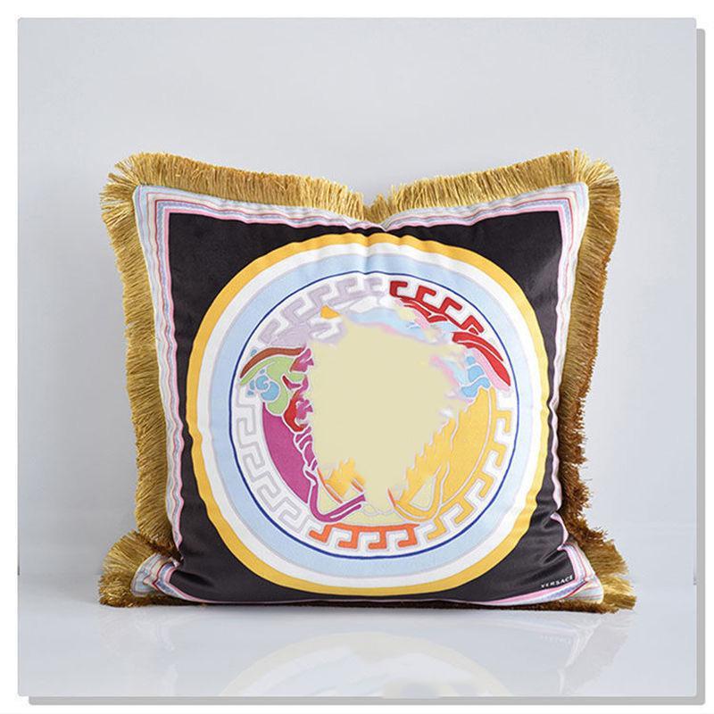 Горячая распродажа европейский бросок наволочка роскошная бархатная подушка чехол декоративные кожей декоративо
