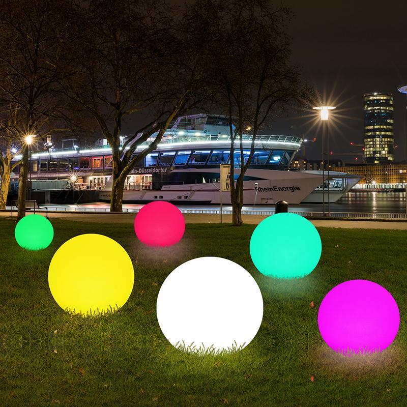 Светодиодный открытый светлый ландшафтный мяч красочный водонепроницаемый электрический шарик сад деятельности декоративная газонная лампа