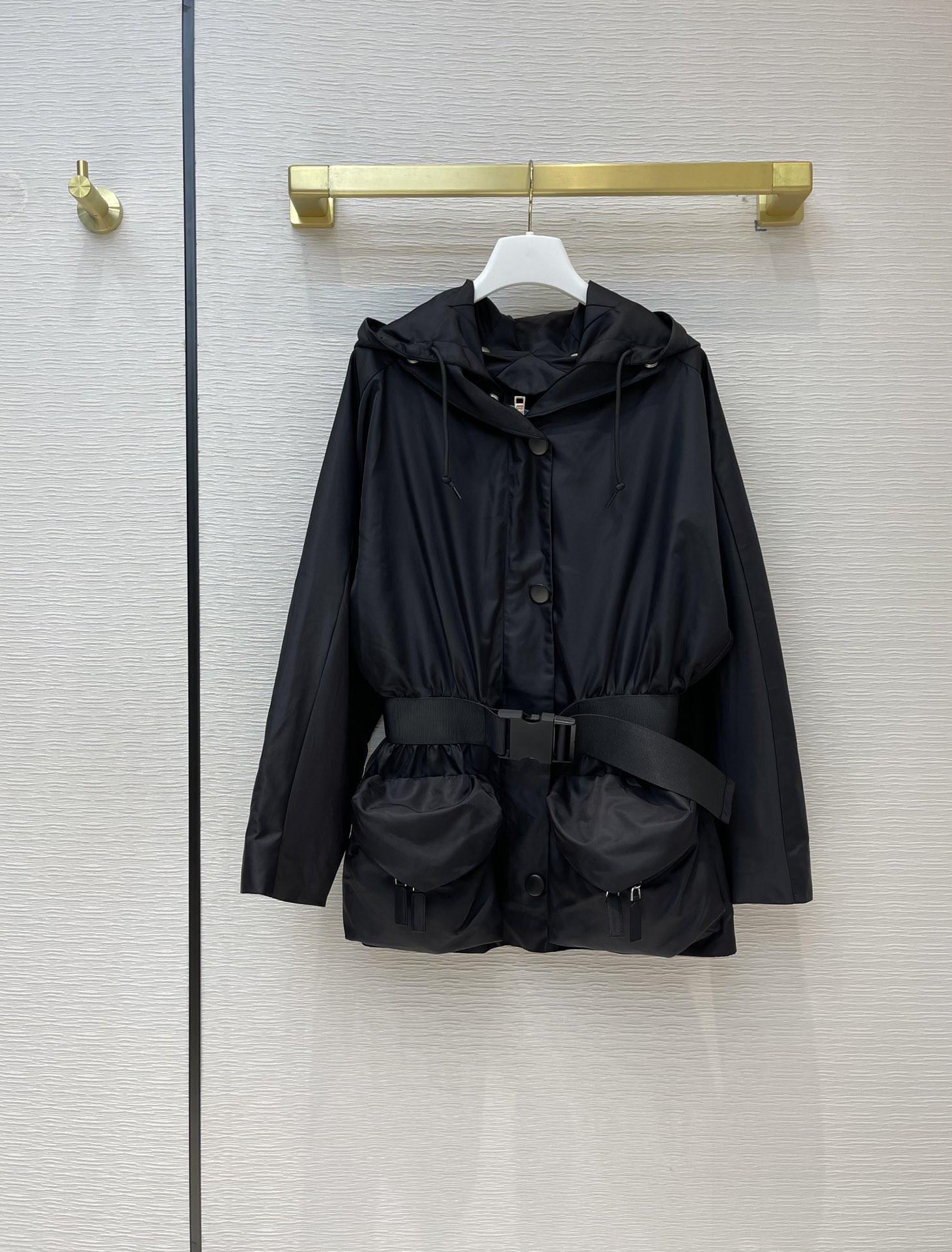Milan Pist Ceketler 2021 Bahar Uzun Kollu Kapüşonlu Panelli Kadın Tasarımcı Marka Aynı Stil Coats 0316-1