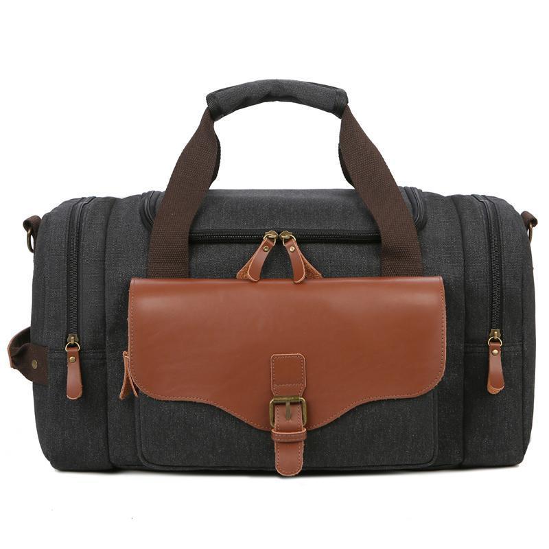Outdoor Bags BOWTAC Men's Large-capacity Canvas Handbag Multi-function Messenger Bag Travel Duffel Wear-resistant Gym